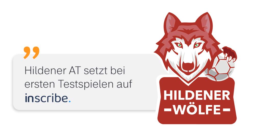 Die Hildener Wölfe setzen beim Testspiel auf die digitale Besucherliste inscribe