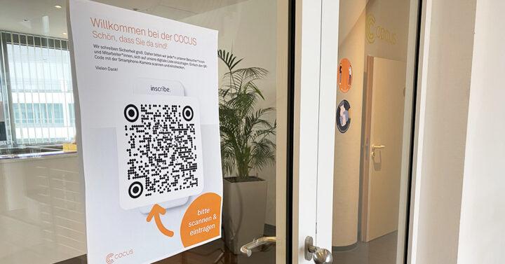 Trabalho seguro através da lista de escritórios digitais: No COCUS com a solução QR Code Inscribe