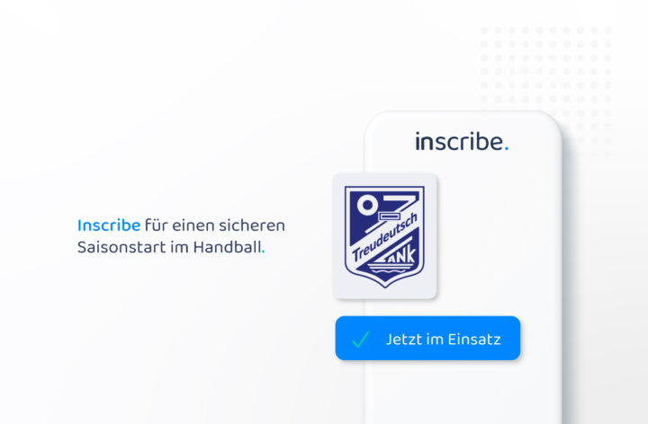 Sporty Inscribe application as digital visitor list at TuS Treudeutsch 07 Lank e.V.