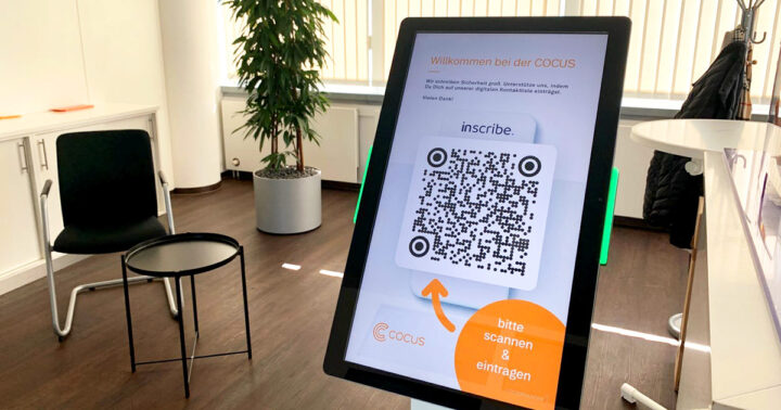 Safe working through digital office list: At COCUS with the QR Code solution Inscribe