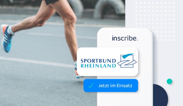 Sportbund Rheinland empfiehlt digitale Lösung Inscribe zur Kontaktverfolgung