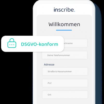 Willkommen bei Inscribe - digitale Besucherliste